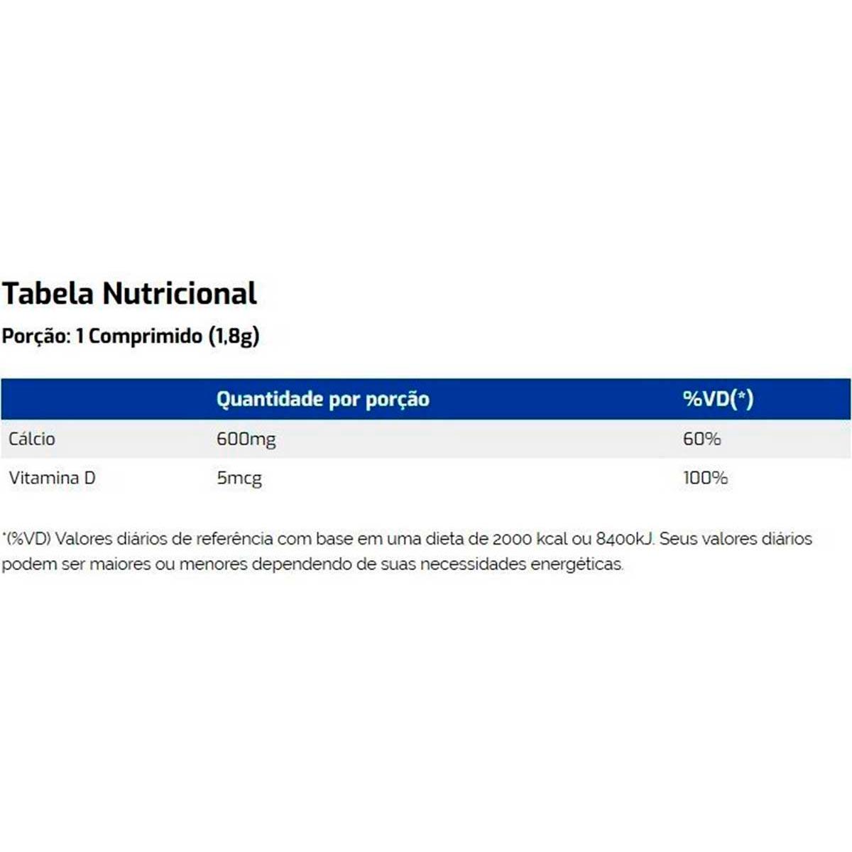Calcium 600mg + Vitamina D3 60 Comprimidos - Vitaminlife
