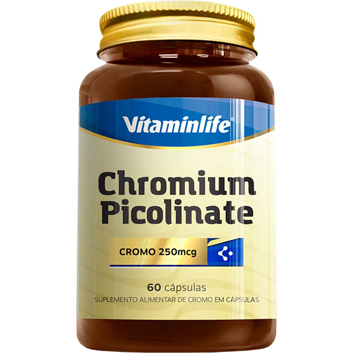 Chromium Picolinate 250mcg 90 Cápsulas - Vitaminlife