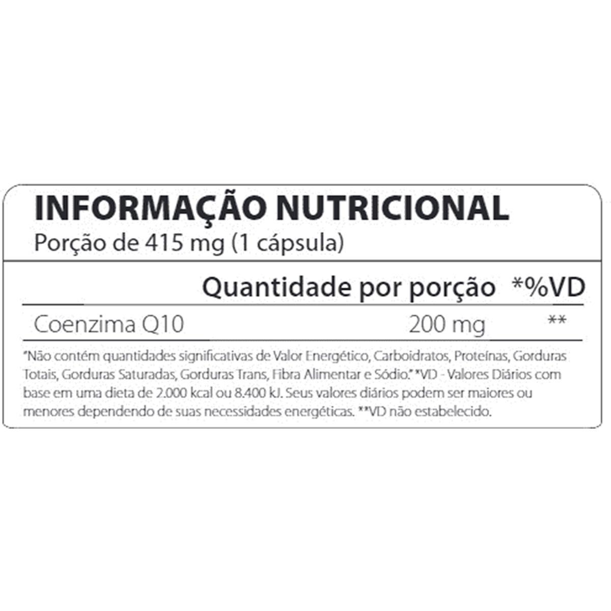 Coenzima COQ10 50mg 60 Cápsulas - Atlhetica Nutrition