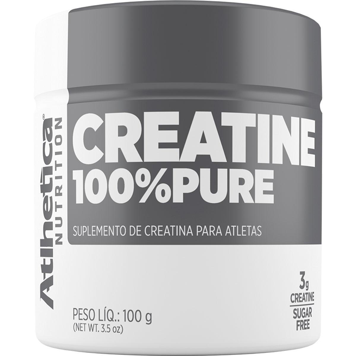 Creatina 100g 100% Pure - Atlhetica Nutrition