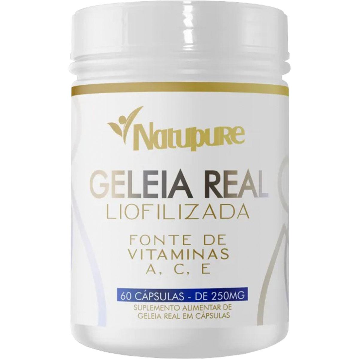 Geléia Real Liofilizada 60 Cápsulas - Natupure