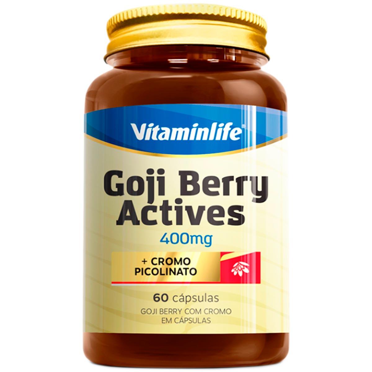 Goji Bery Actives 60 Cápsulas - Vitaminlife