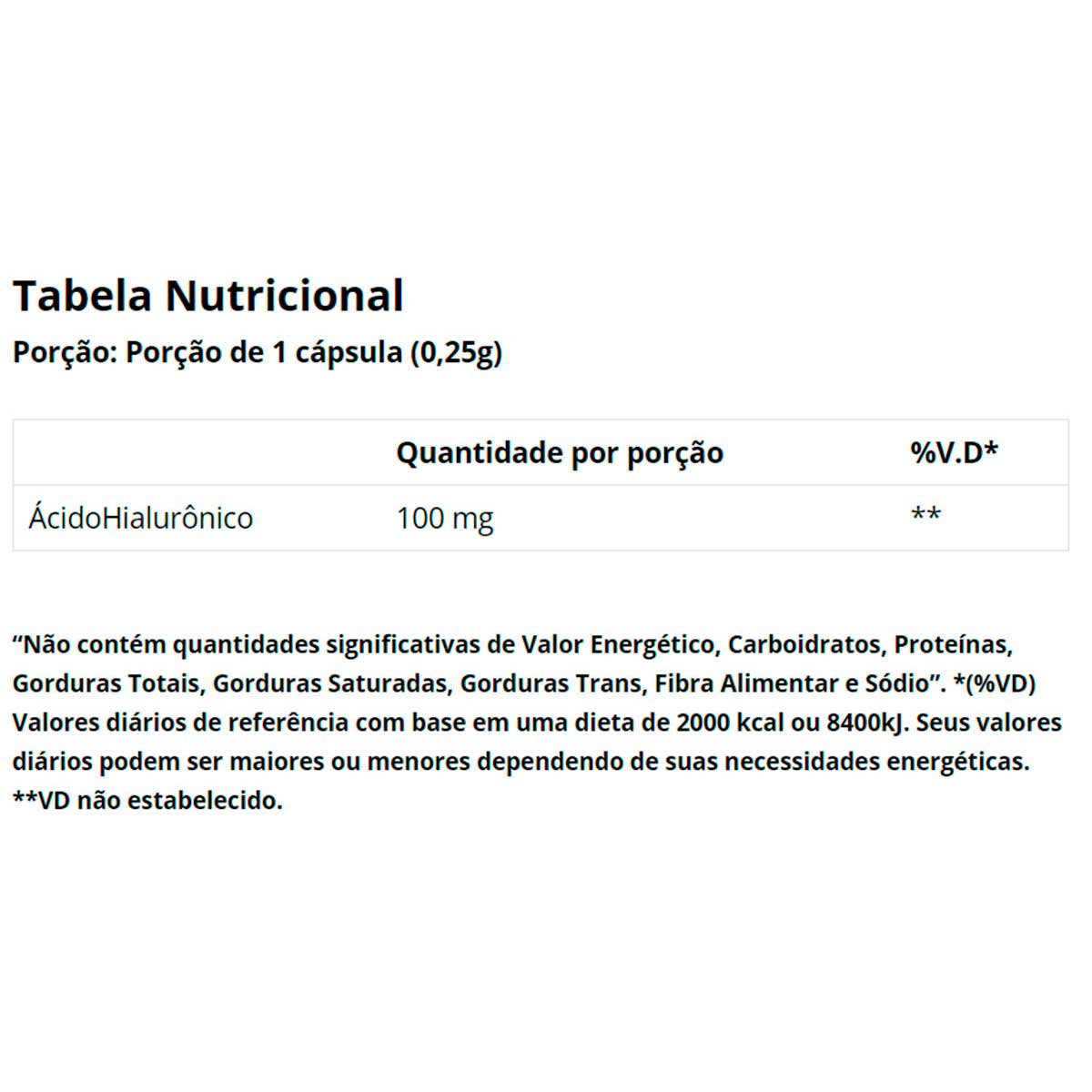 Hialurolife 100mg 30 Cápsulass - Vitaminlife