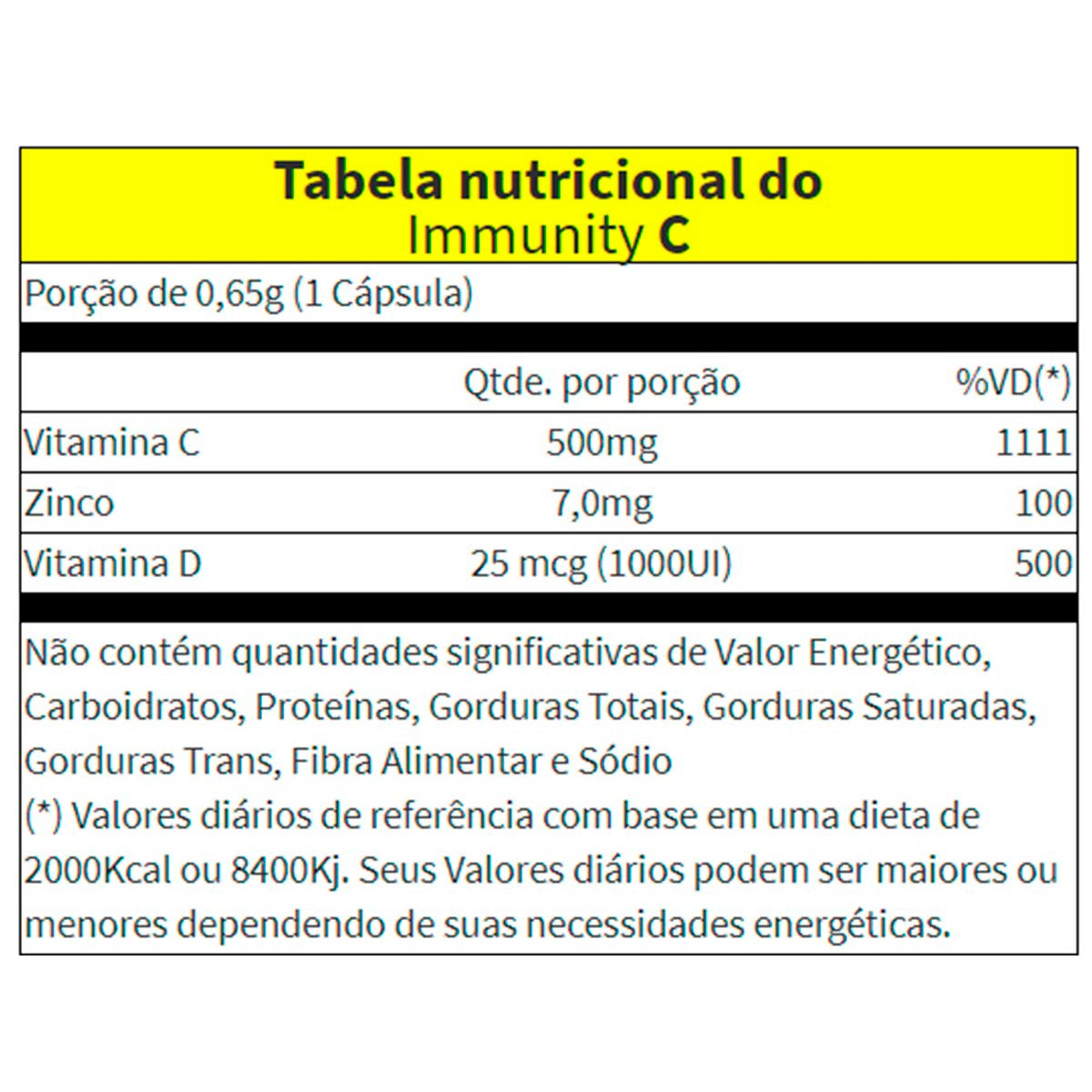 Immunity C 60 Cápsulas - Vitaminlife