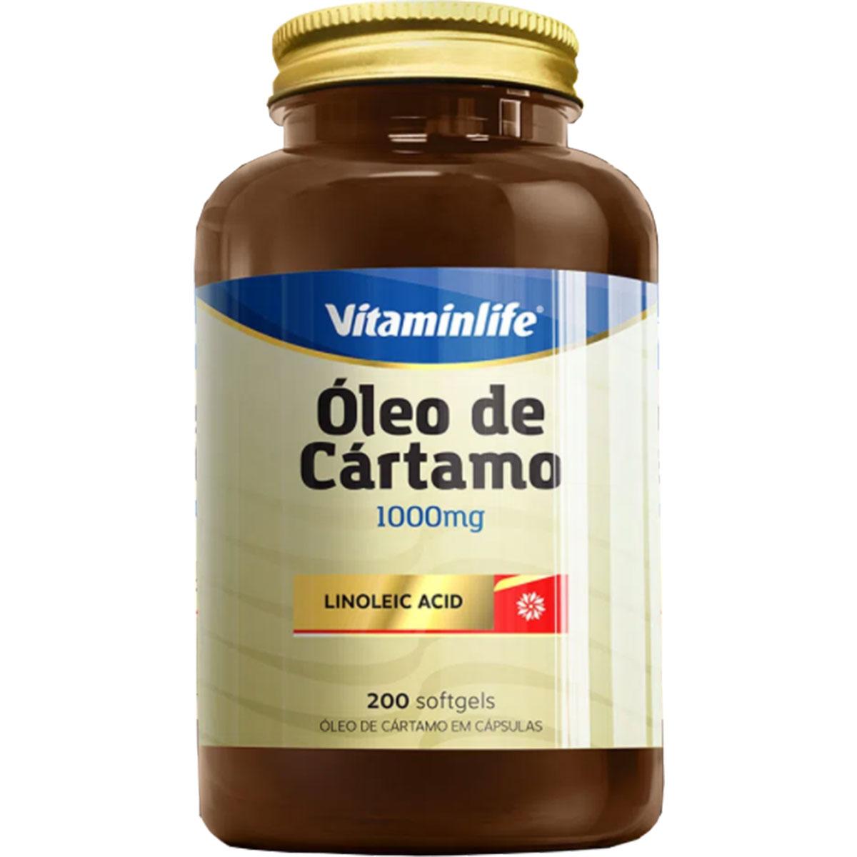 Óleo de Cártamo 200 Softgel - Vitaminlife