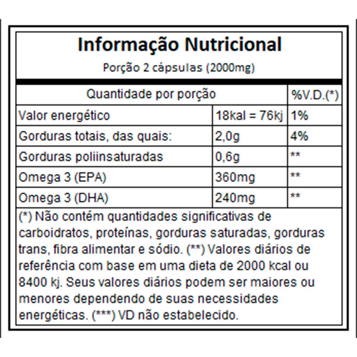 Omega 3 60 Cápsulas - Vitaminlife
