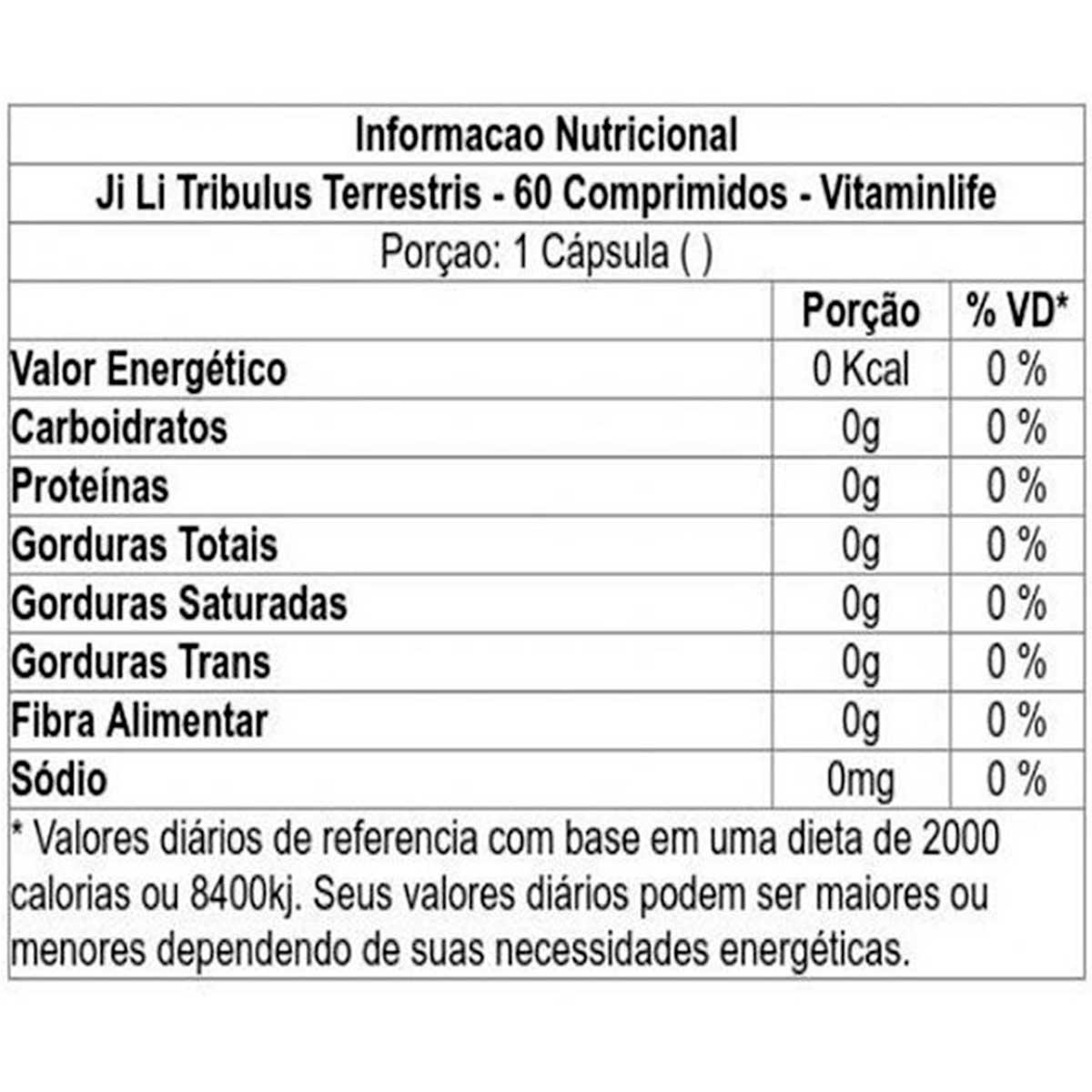 Tribulus Terrestre Ji Li 60 Comprimidos - Vitaminlife