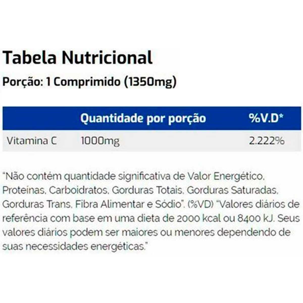 Vitamina C 1000mg 60 Comprimidos - Vitaminlife