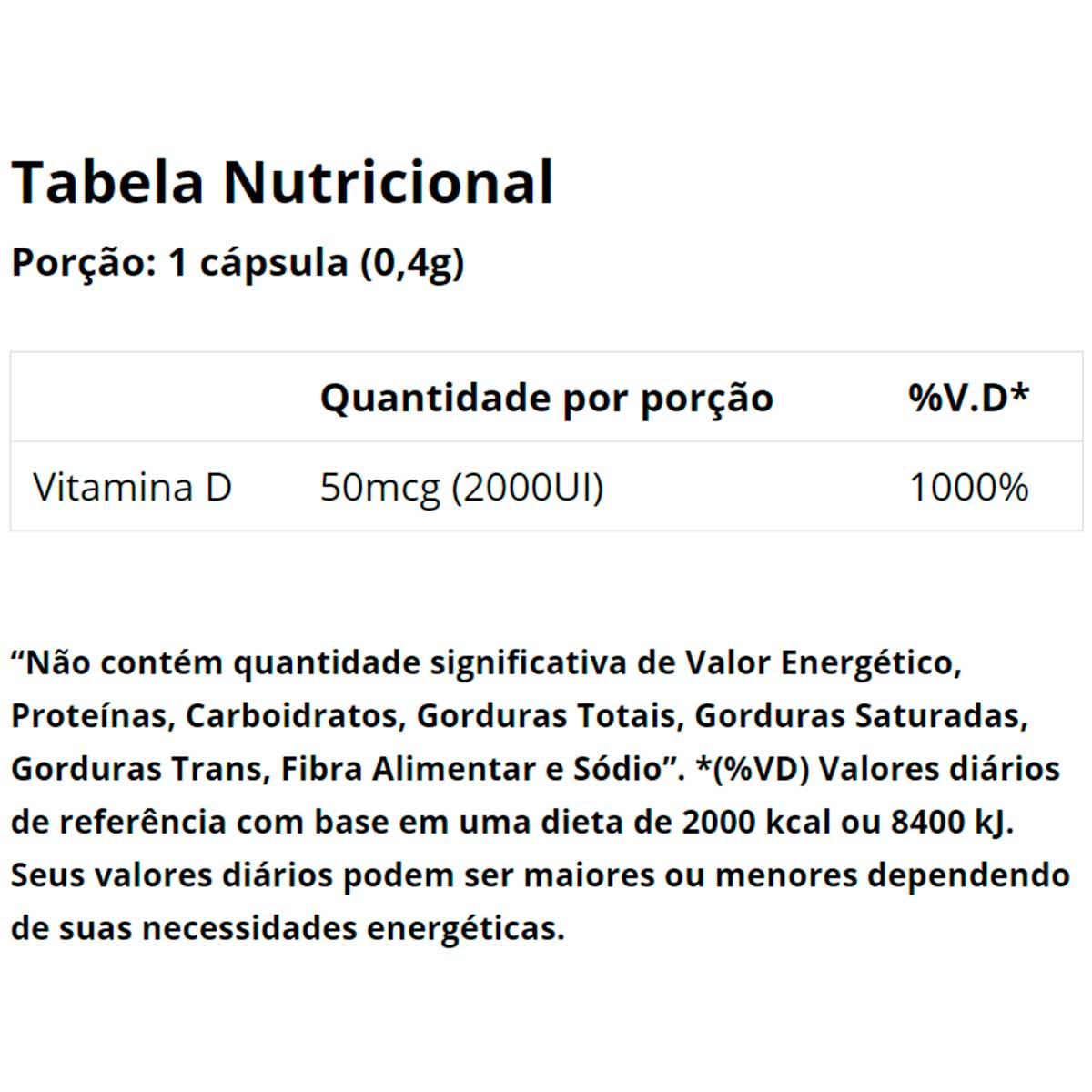 Vitamina D 2000UI 60 Cápsulas -  Vitaminlife