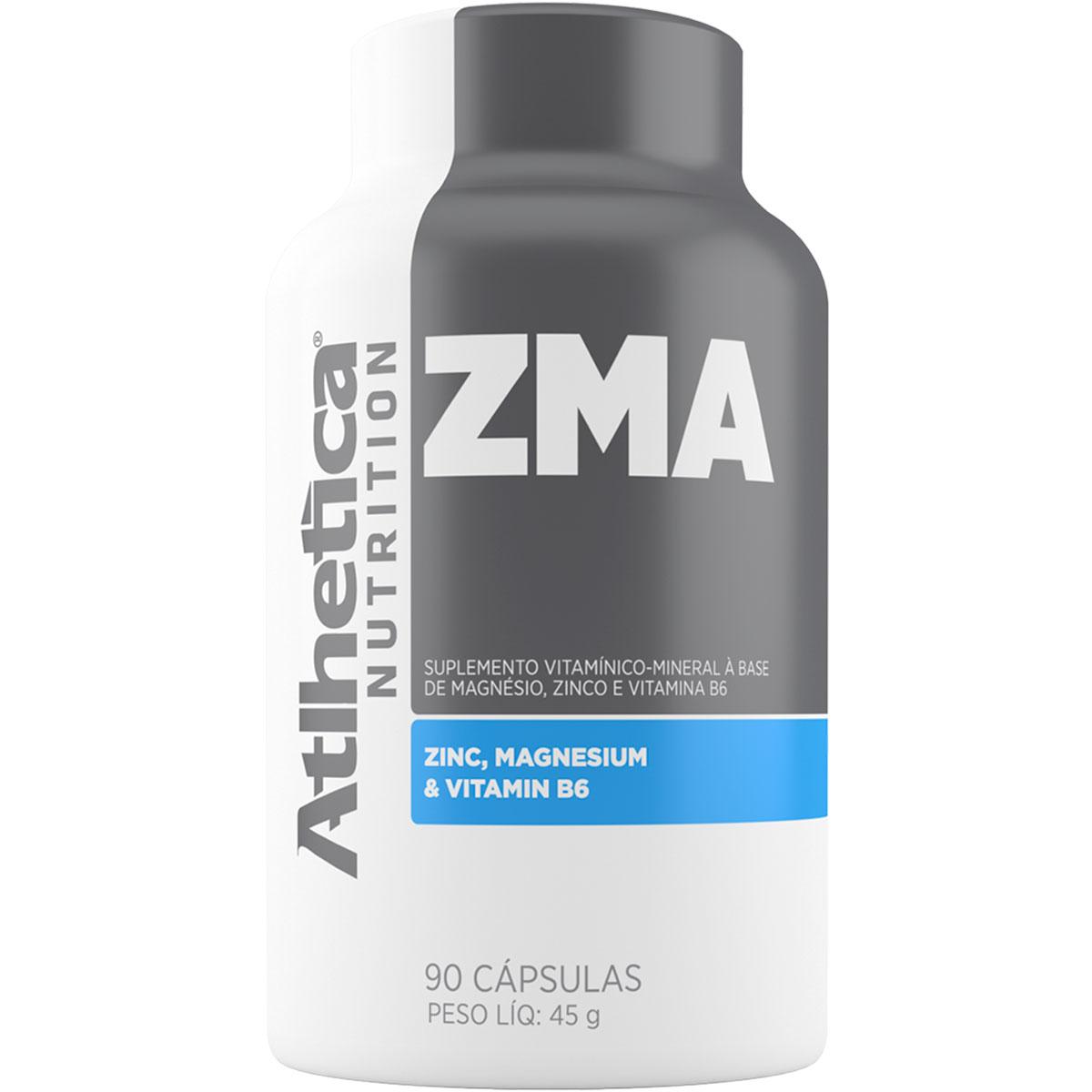 ZMA - 90 Cápsulas - Atlhetica Nutrition