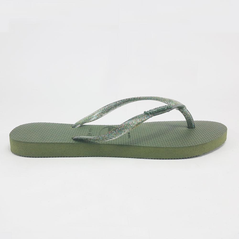 Chinelo Feminino Havaianas Slim Logo Metallic  -  FlexPé Calçados
