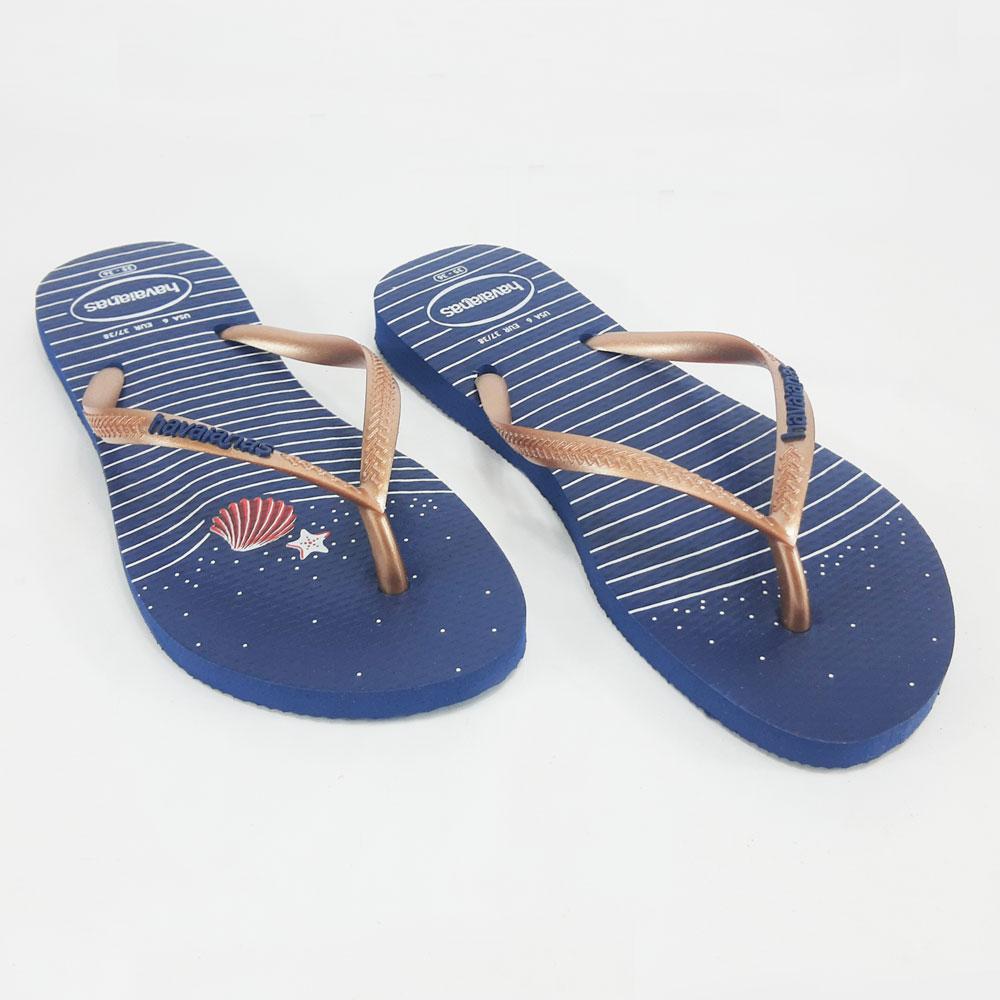 Chinelo Feminino Havaianas Slim Nautical  -  FlexPé Calçados