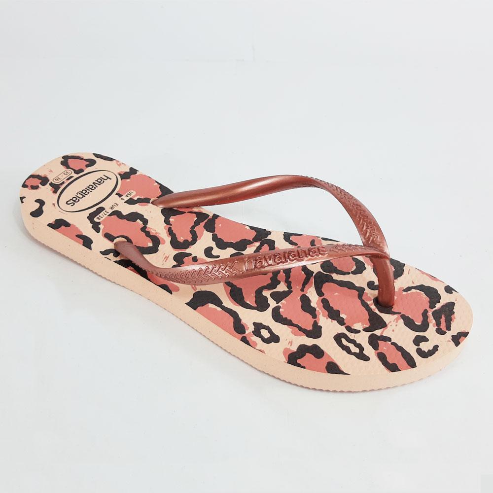 Chinelo Feminino Havaianas Slim Animals  -  FlexPé Calçados