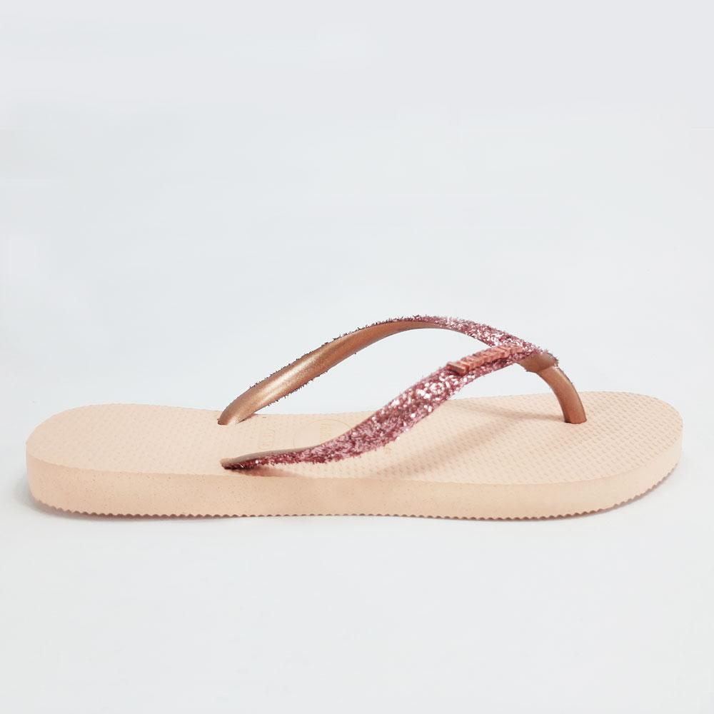 Chinelo Feminino Havaianas Slim Glitter II  -  FlexPé Calçados