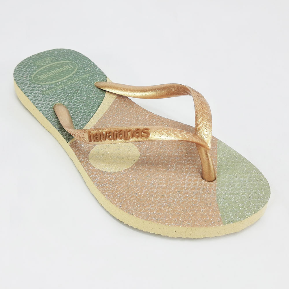 Chinelo Feminino Havaianas Slim Pallete Glow  -  FlexPé Calçados