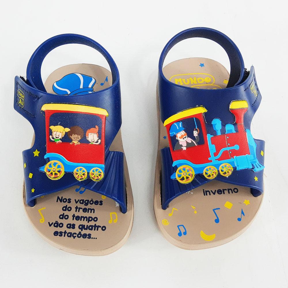 Sandália Infantil Grendene Mundo Bita Trenzinho  -  FlexPé Calçados