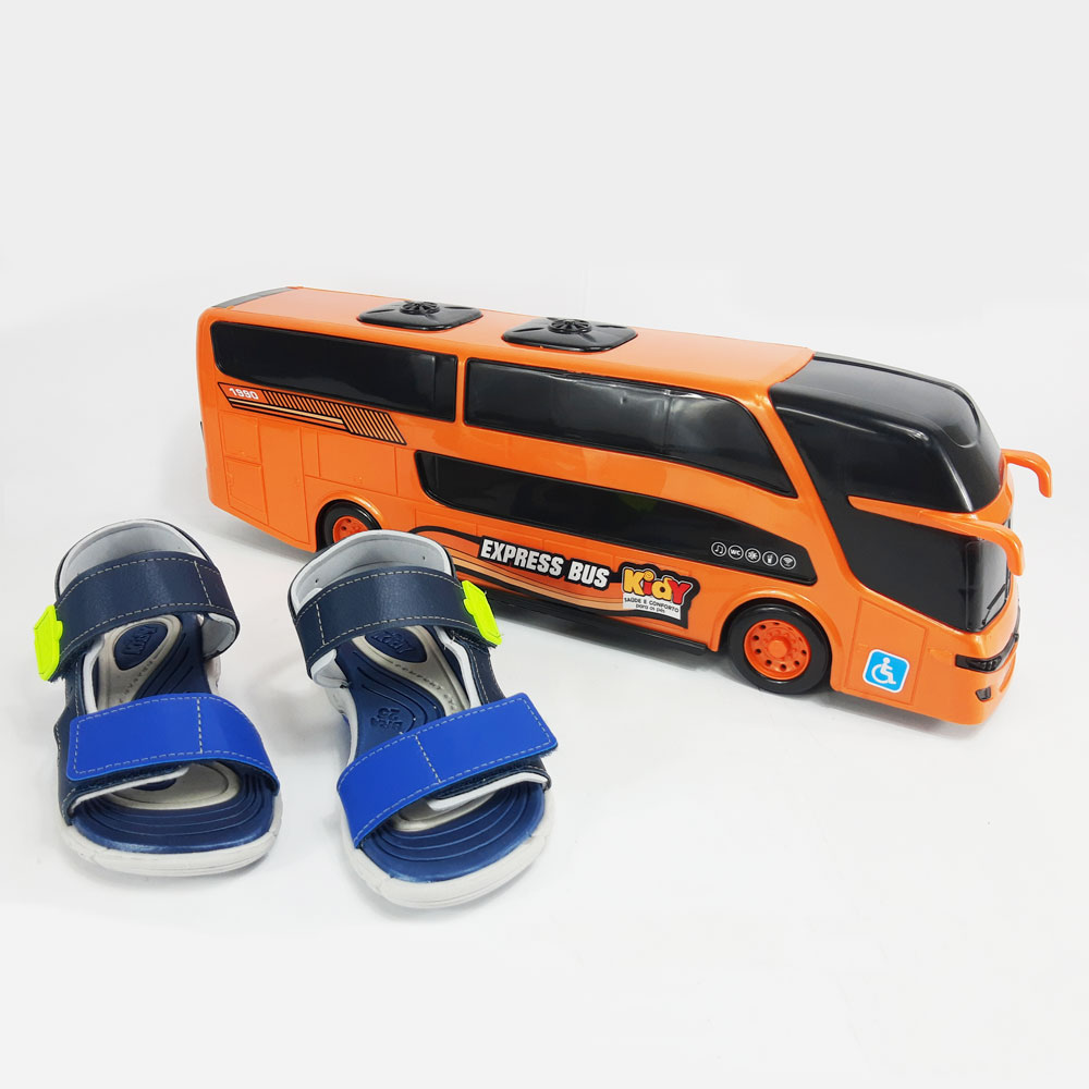 Sandália Infantil Kidy Wave Bus  -  FlexPé Calçados