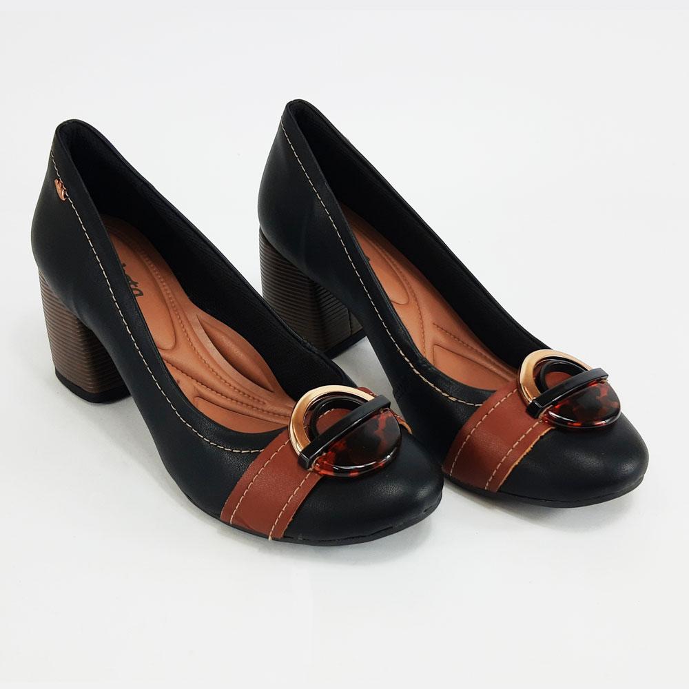 Sapato Feminino Dakota Salto Bloco  -  FlexPé Calçados