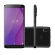 Smartphone Multilaser G 4G 32GB Tela 5.5 Processador Octa Core Sensor de Digitais Android 9.0 GO Preto - P9132