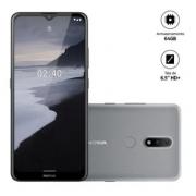 Smartphone Nokia 2.4 Cinza 6,5HD+ 64GB, 3GB RAM Android Câm.Traseira 13+2MP