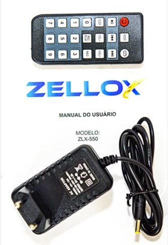 Caixa amplificada Zellox com bateria ZLX-550