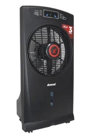 Climatizador Umidificador Ar Portátil Frio 3 Litros Digital Amvox 220V