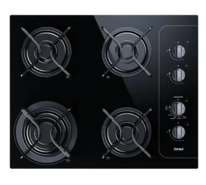 Cooktop 4 bocas Consul com controle fácil e acendimento automático - BIVOLT