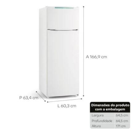 Geladeira Consul Cycle Defrost Duplex 334 litros Branca com Freezer 220V