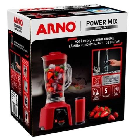 Liquidificador Arno Power Mix Lq30 5 Velocidades+Pulsar 550W 220V