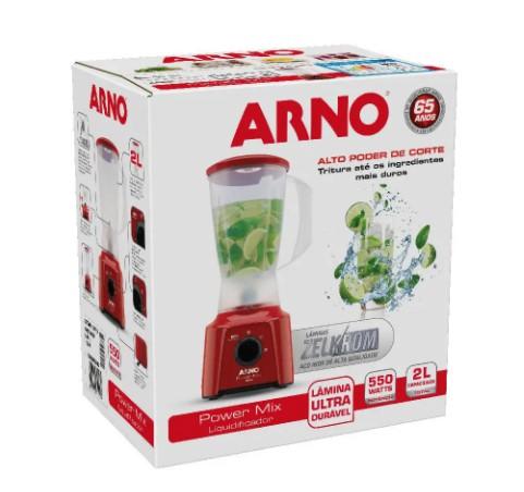 Liquidificador Power Mix Arno Lq11 Copo de Plástico 2 Velocidades + Pulsar 550W vermelho 220V