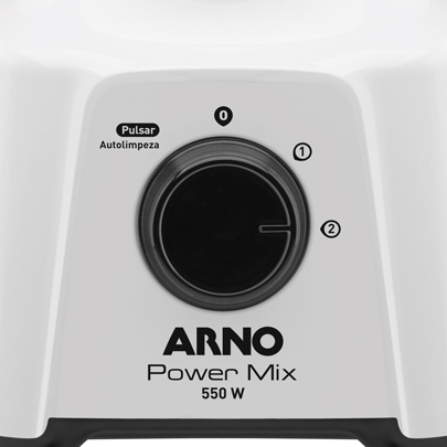 Liquidificador Power Mix Arno Lq12 Copo de Plástico 2 Velocidades + Pulsar 550W branco 220V
