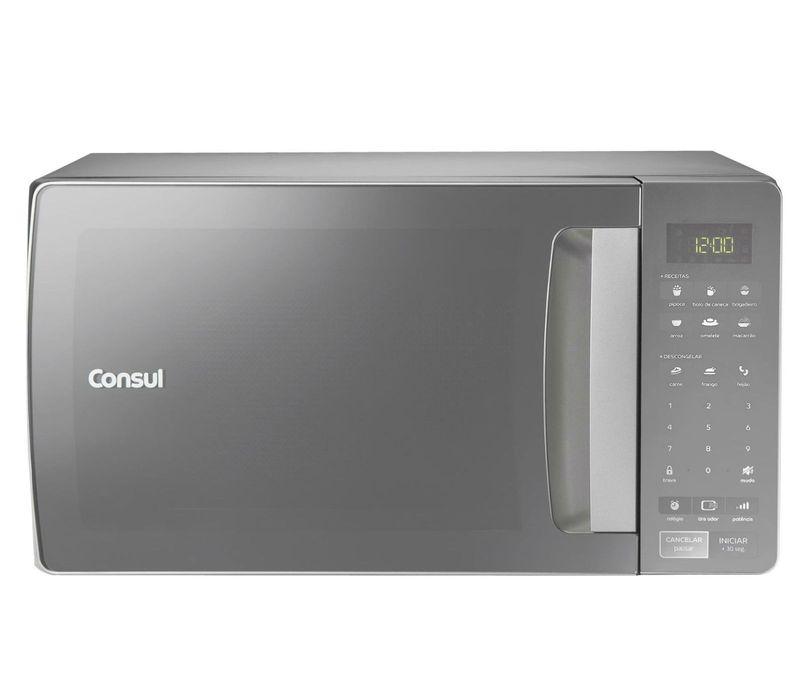 Microondas Consul 32 Litros cor Inox Espelhado com Função Descongelar 220v