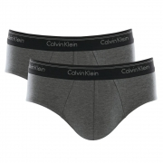 Kit 2 Cuecas Slip Cotton Calvin Klein