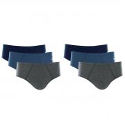 Kit 6 Cuecas Slip Mash 100% Algodão Comfort Clássica