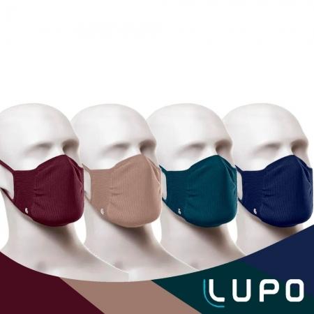 Kit com 2 Máscaras Lupo Zero Costura Adulto Vírus Bac-Off  Colorida