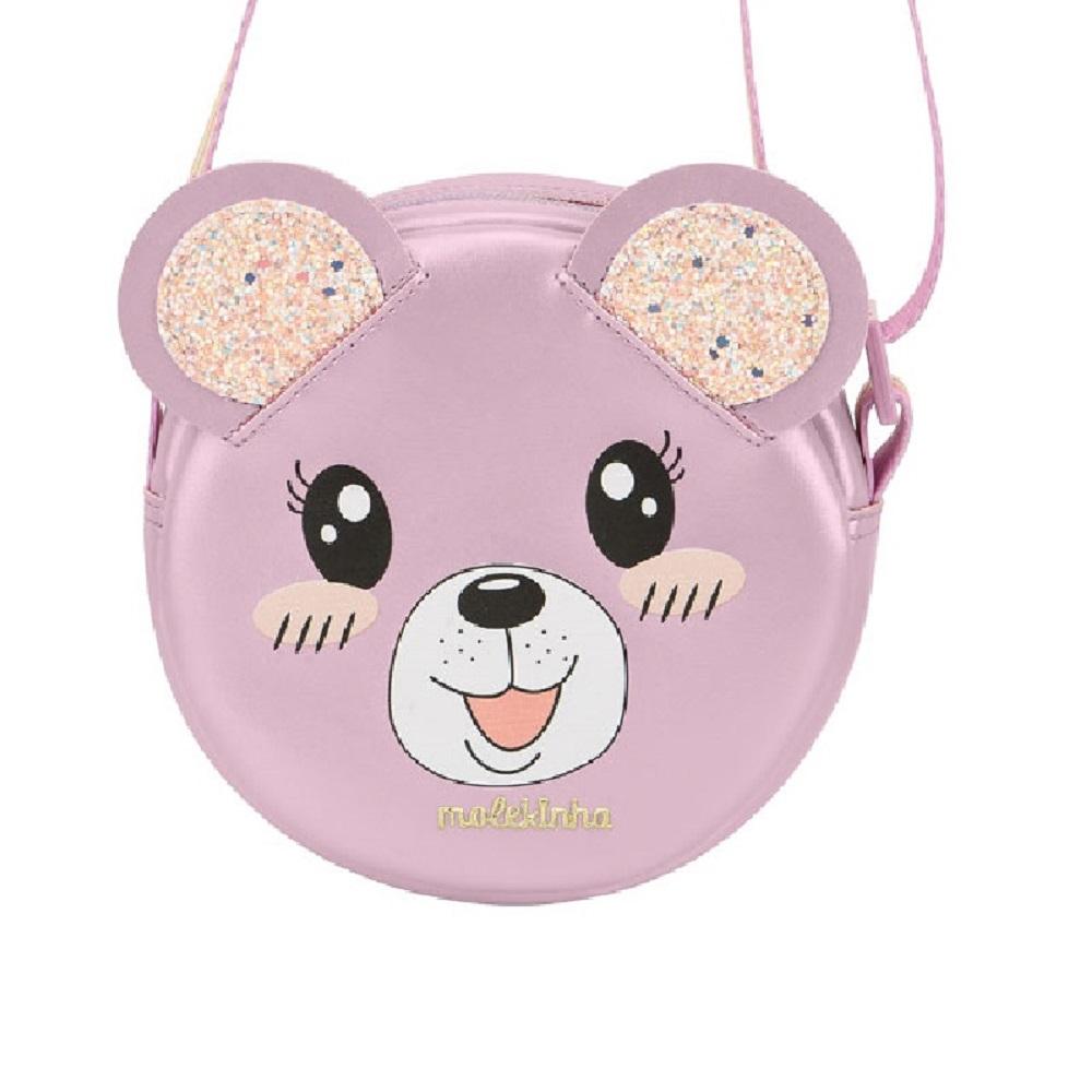 Bolsa Molekinha Infantil Redonda Urso