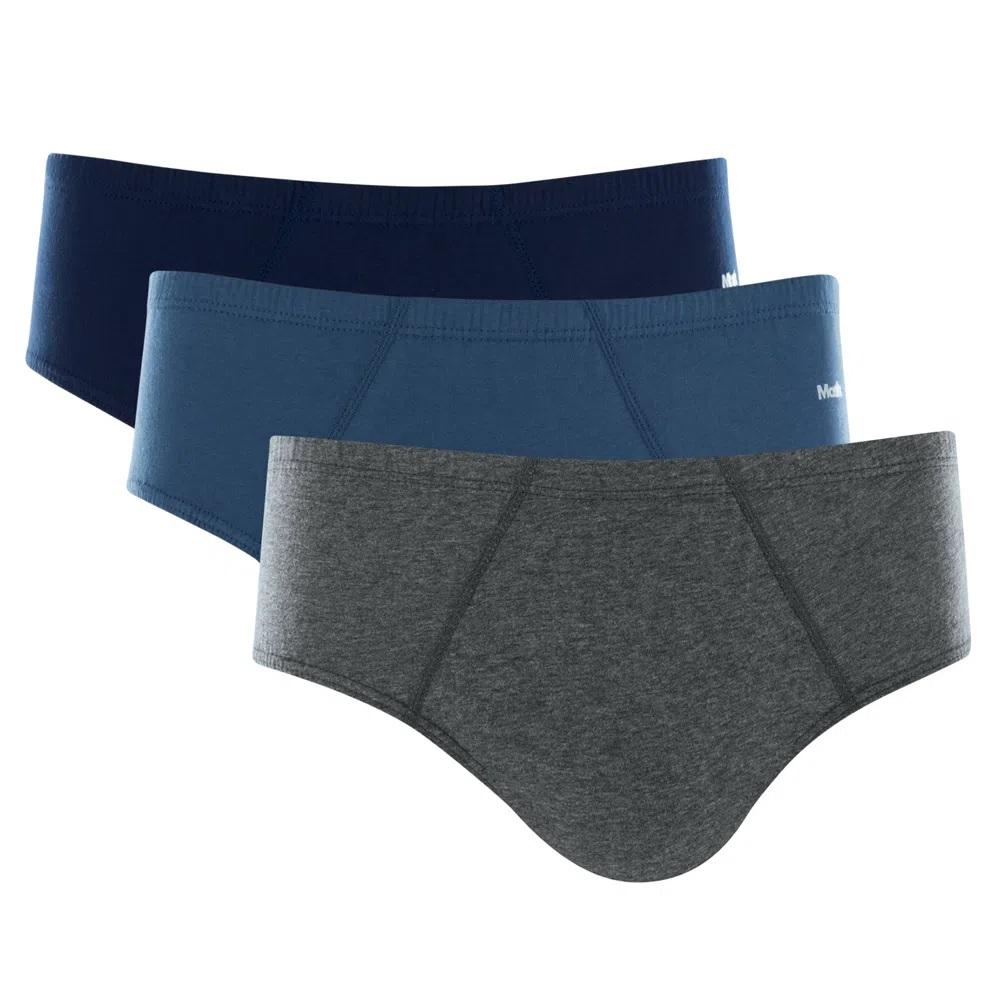 Kit 12 Cuecas Slip Mash 100% Algodão Comfort Clássica