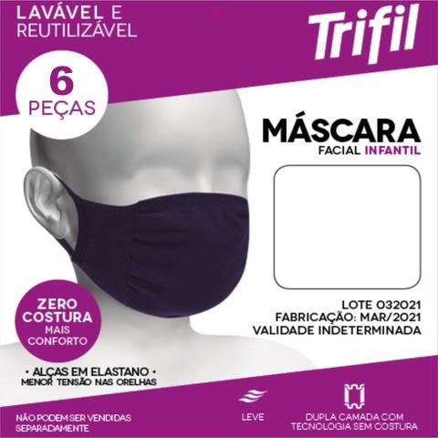 Kit 12 Máscaras Trifil Infantil Proteção Facial Antiviral