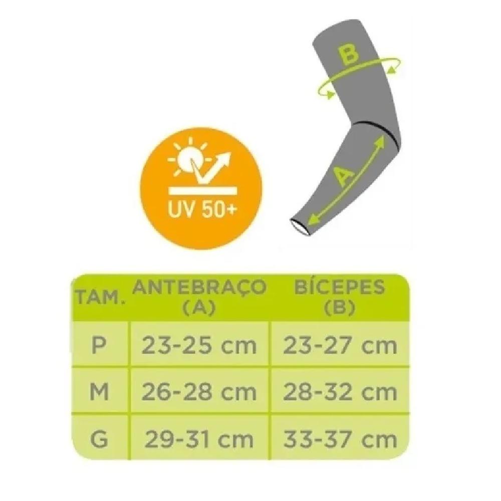 Manguito Lupo Unissex Proteção Solar Uv 50+ Dry Fit 15002