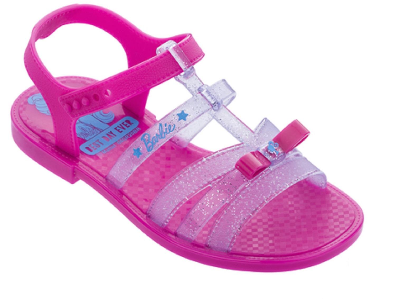 Sandália Infantil Barbie Pink Car Rosa