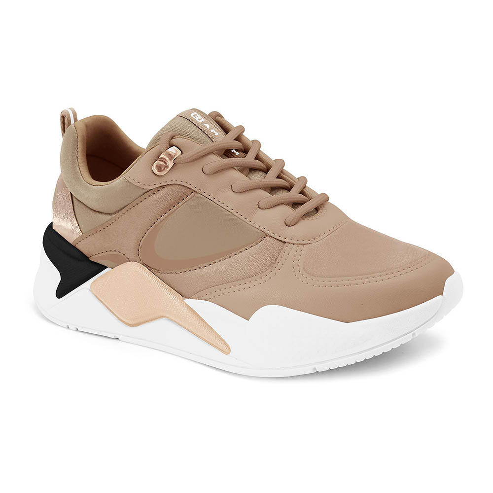 Tênis Feminino Ramarim Chunky Sneaker Casual Flatform Caramelo