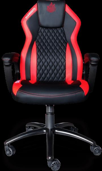 Cadeira Elements Elemental IGNIS vermelha/preta