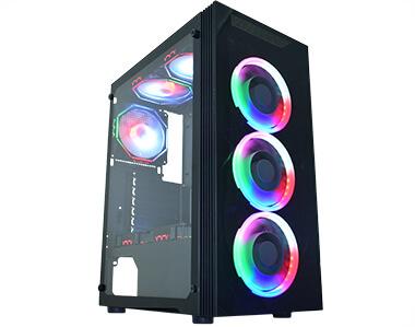 Gabinete Asgard III preto LED RGB CG-03Z5 K-MEX@