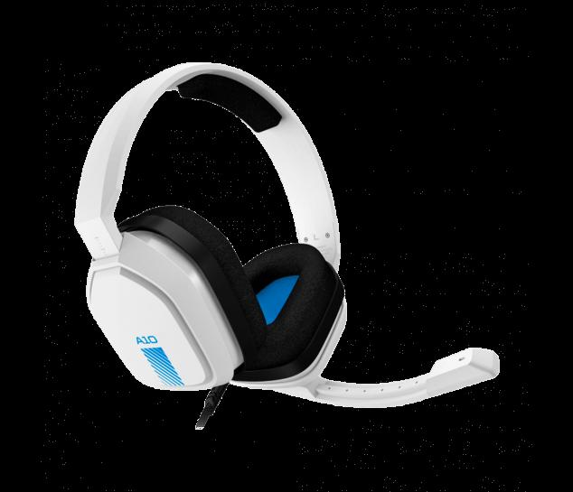 Headset ASTRO A10 branco/azul para PS4