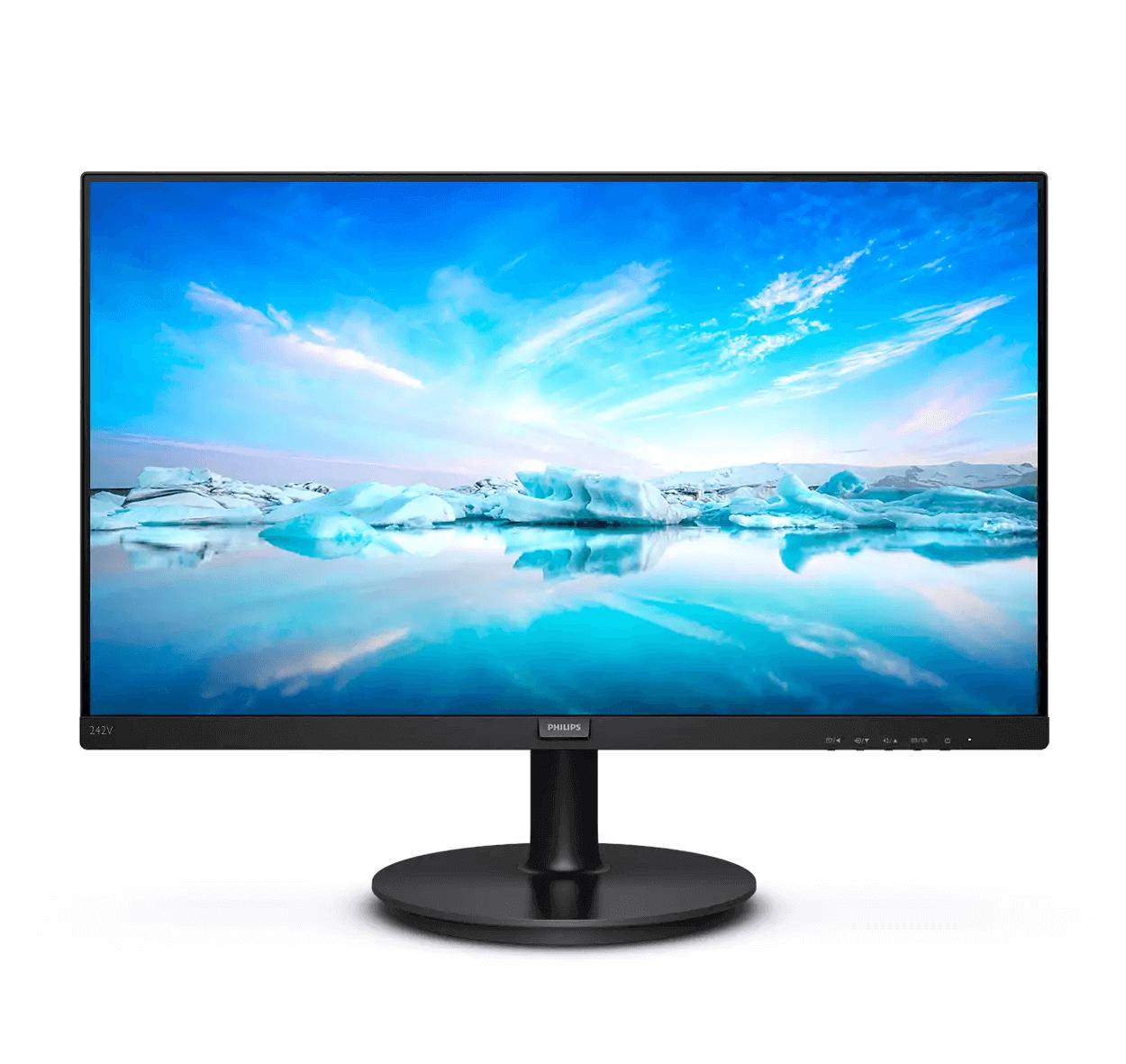 Monitor PHILIPS LED 23.8P HDMI WIDE IPS preto bivolt