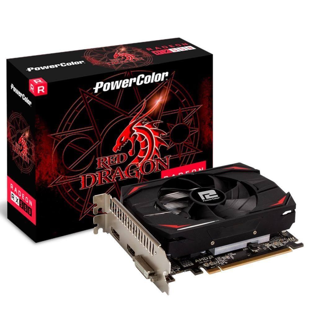 Placa de vídeo PCI-E AMD RADEON RX 550 4GB GDDR5 128B 4GBD5-DH POWER COLOR@