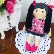 Boneca de Pano - Coleção Candy - MEL - CABELO PRETO