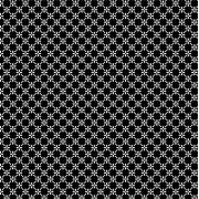 FABRICART - CERCA DE FLORES PRETA - 25cm X 150cm - Tecido Tricoline