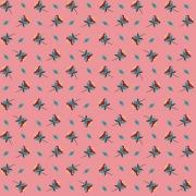 FABRICART - MINI FLORES ROSE - 25cm X 150cm - Tecido Tricoline