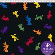 FERNANDO MALUHY - Coleção Disney MICKEY MULTICOR - 25cmX150cm - Tecido Tricoline